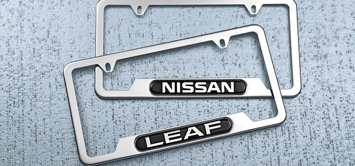 Nissan LEAF License Plate Frame