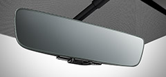Frameless Rear View Mirror with Universal Remote