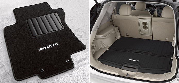 Carpeted Floor Mats, Cargo Area Protector, and First-aid Kit